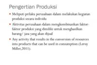 pengertian Produksi