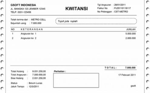 Contoh Kwitansi Pengertian Kwitansi Dan Invoice