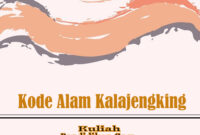 kode alam kalajengking