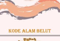 kode alam belut