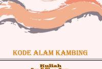 kode alam kambing
